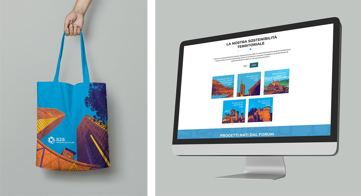 Applicazioni visual BIlanci di Sostenibilità su shopper e applicazioni web