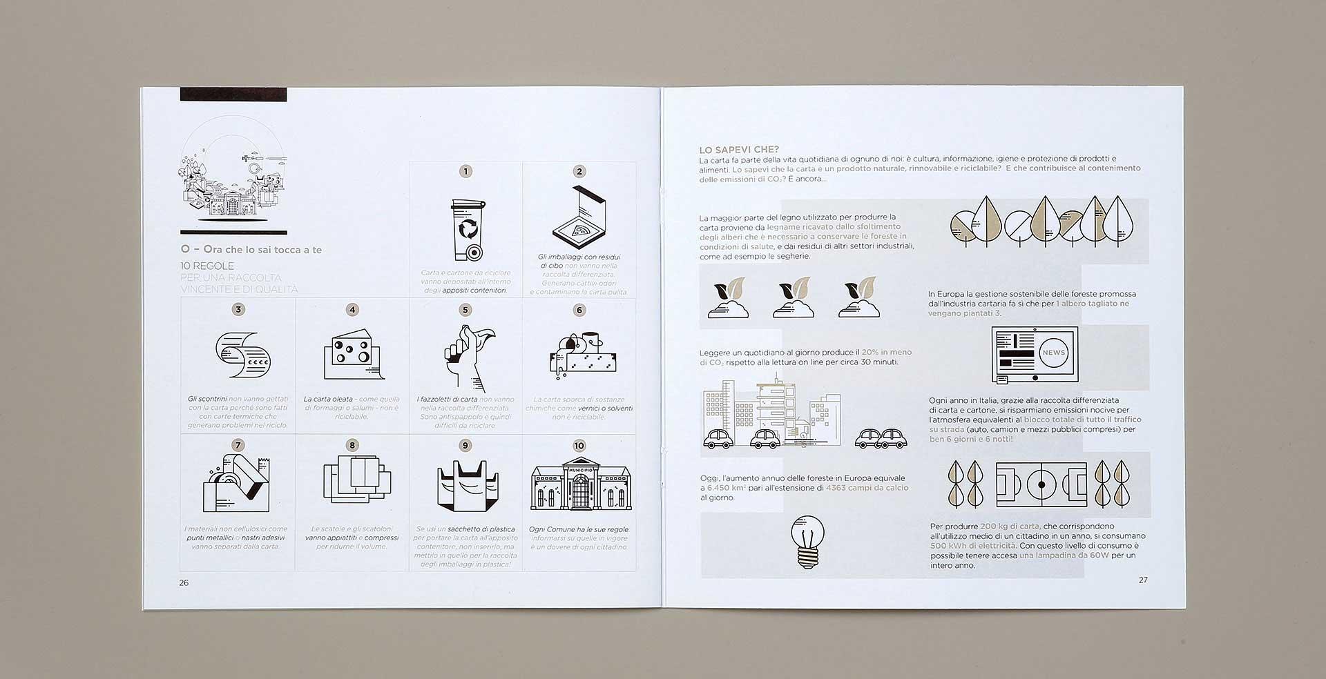 infografiche brochure Comieco