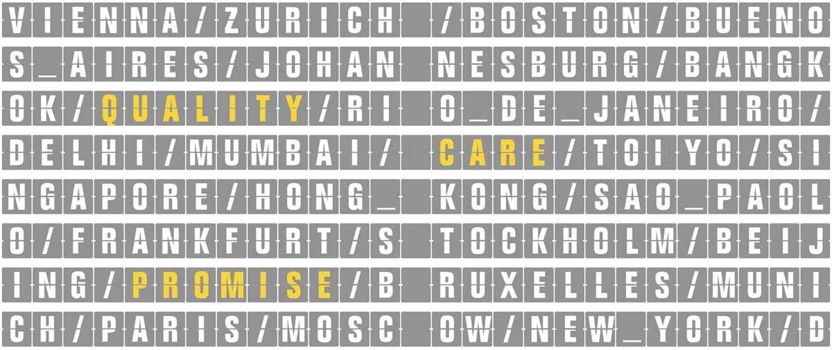 tabellone viaggi Lufthansa