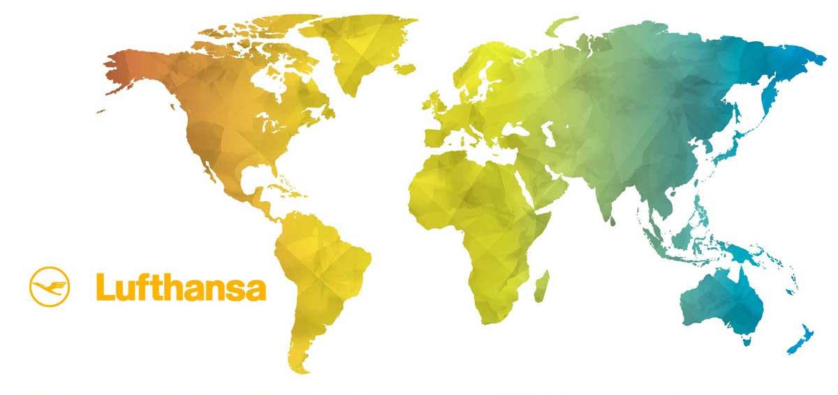 mappa internazionale Lufthansa