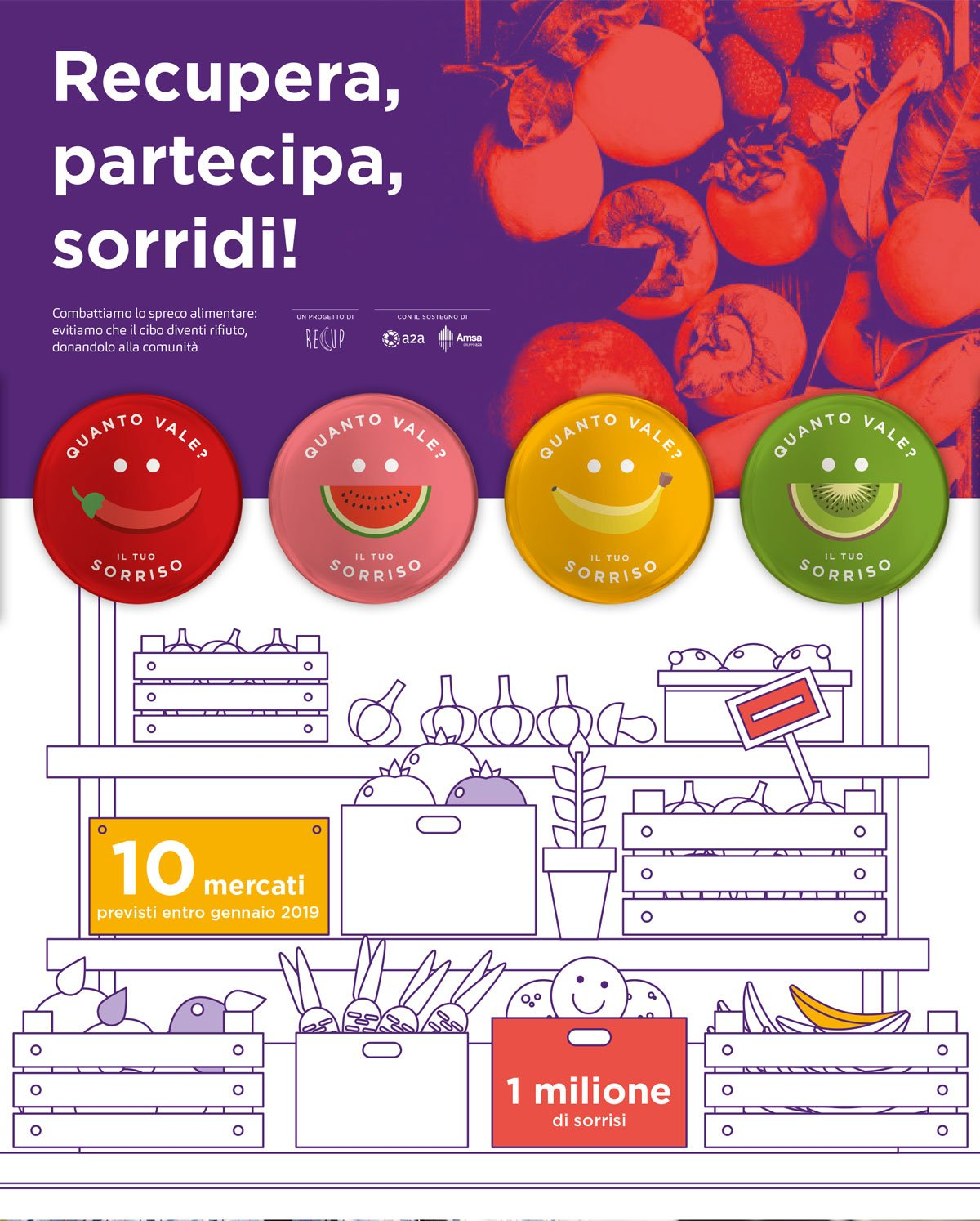adv per progetto spreco alimentare di Amsa e A2A