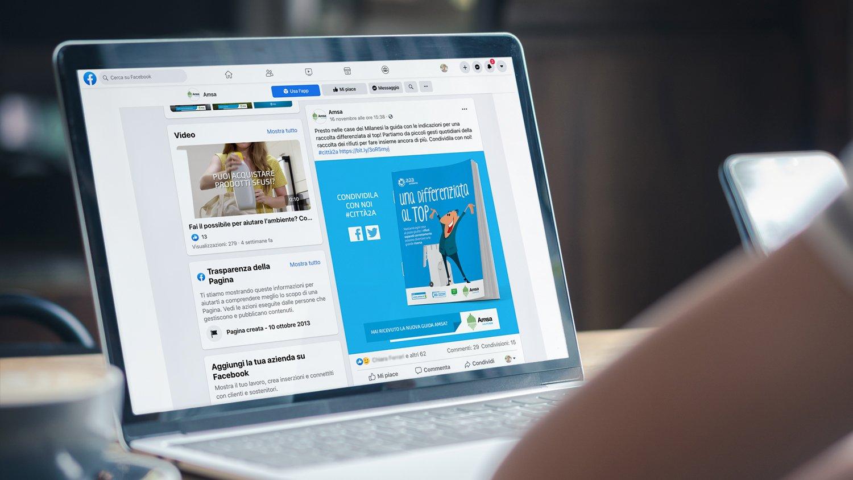 Post social Guida online alla Raccolta Differenziata di Amsa 2020