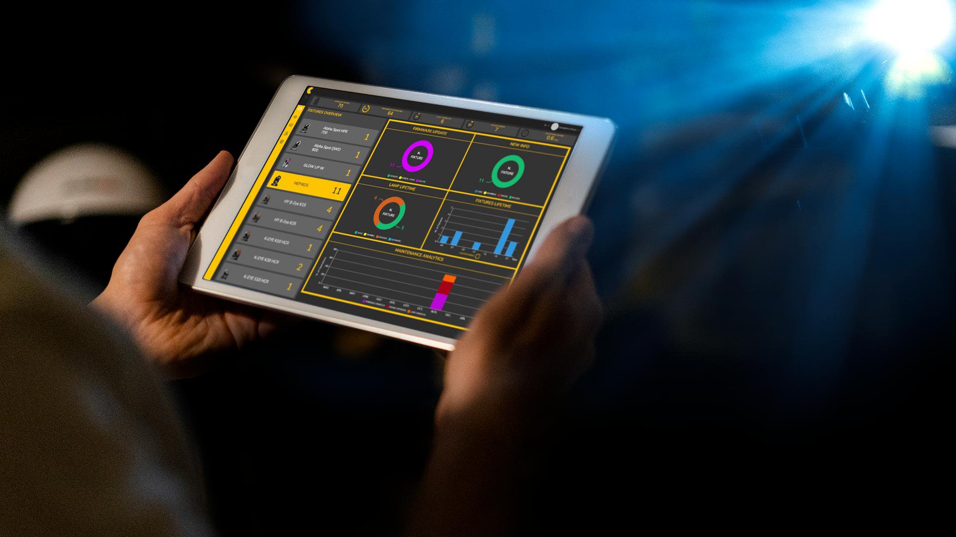 screen diagnostica di CloudIO da iPad